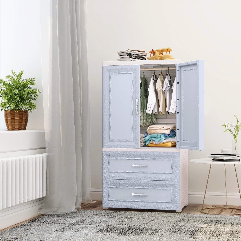 Nafenai Plastic Wardrobe Closet with Door and Drawers ...