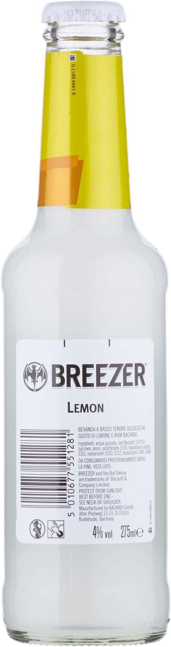 Breezer Combinado Refrescante de Ron con Limón - Paquetes de 24 x 275 ml - Total: 6600 ml