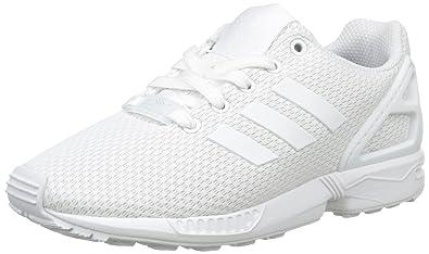 cheaper 2cc64 c0d20 Amazon.com | adidas Originals ZX Flux J White Textile Youth ...