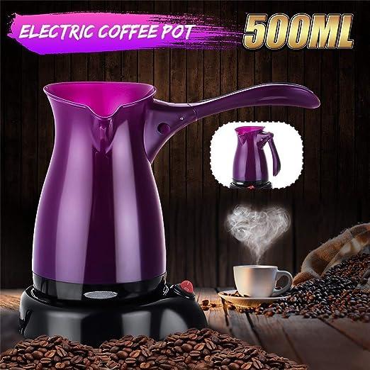 AndyJerzy Cafetera 500ML eléctrico Cafetera Espresso Turco té Moka ...