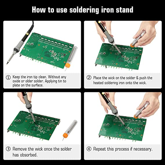 Glunlun Kit Soldador,17-en-1 Soldador eléctrico de Estaño, 60W Soldering Iron con temperatura ajustable,5pcs consejos de soldadura,alambre de soldadura ...