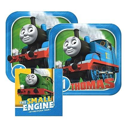 Thomas And Friends Paper Plates and Napkins 16 Settings Bundle- 3 Items  sc 1 st  Amazon.com & Amazon.com: Thomas And Friends Paper Plates and Napkins 16 Settings ...