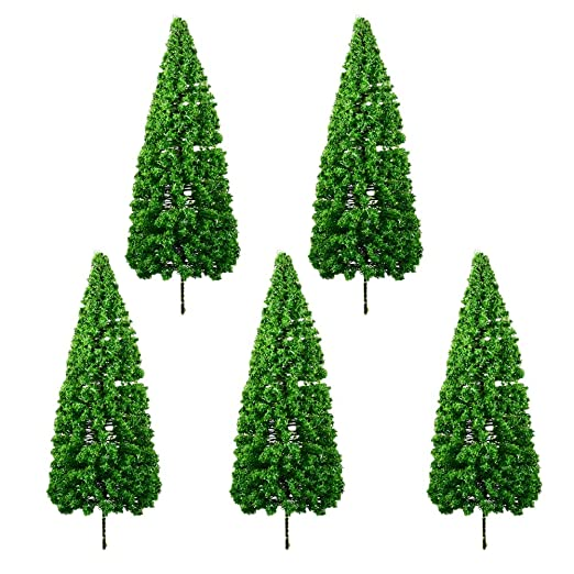 Nowbetter - Juego de 5 Mini árboles de Navidad de Pino de ...