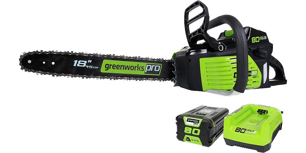 Greenworks Pro 80V 18-Inch Cordless Chainsaw