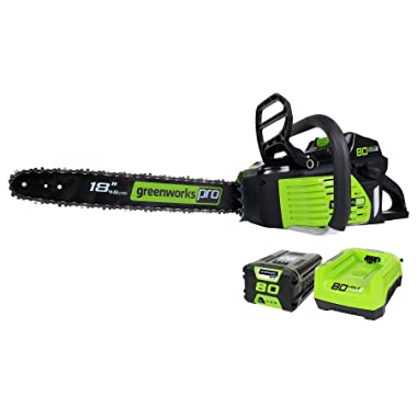 Greenworks PRO GCS80420 18-Inch 80V Cordless Chainsaw