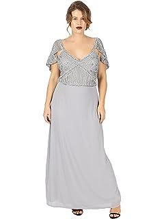 5706936693707b Lovedrobe Luxe Womens Plus Size Mauve Keyhole Back Embellished Maxi ...