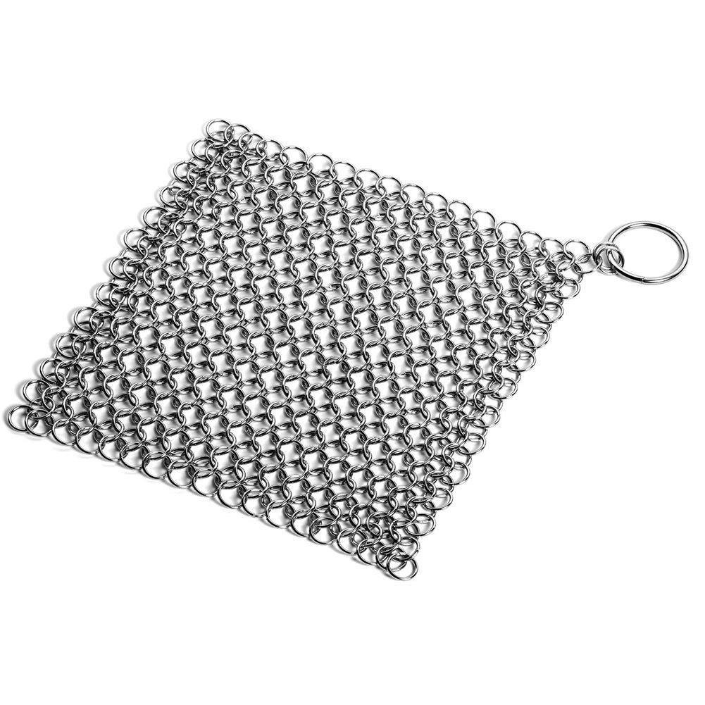Acero inoxidable fundido hierro limpiador Chainmail Depurador para ...
