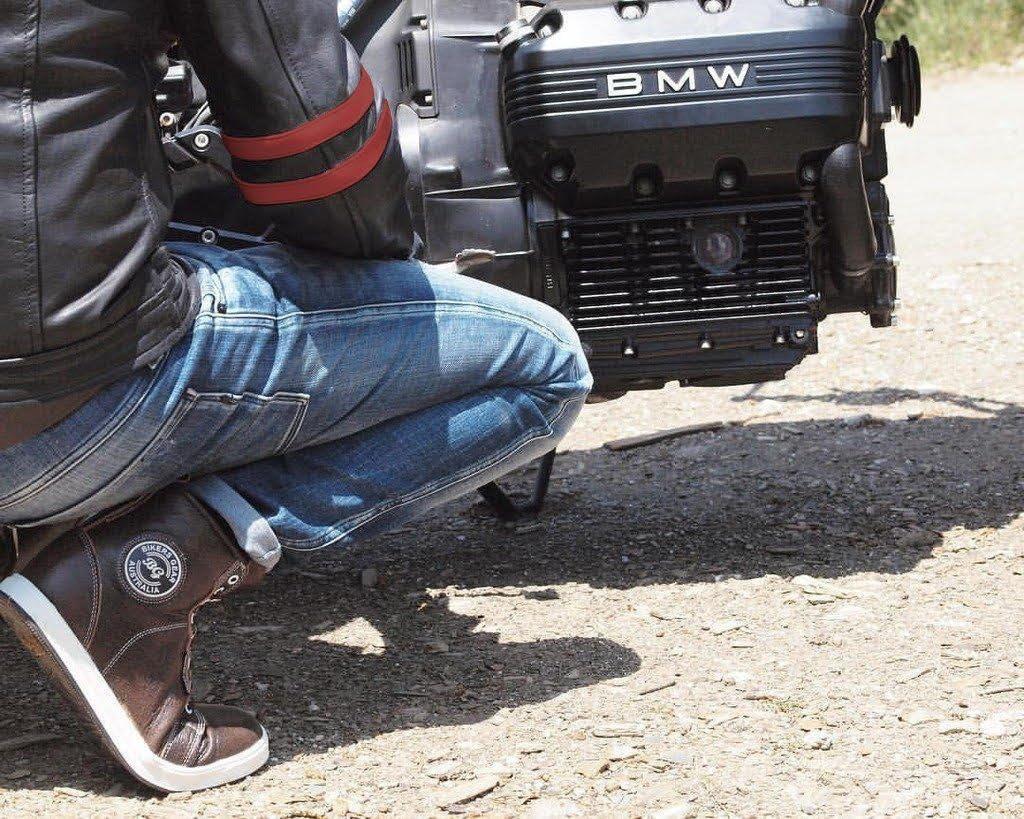 Bikers Gear UK Veste de Moto Couleur Black /& Oxblood en Cuir Travaille Blouson mod/èle Caf/é Racer Hybrid avec Protection approuv/ées CE TALLE 3XL