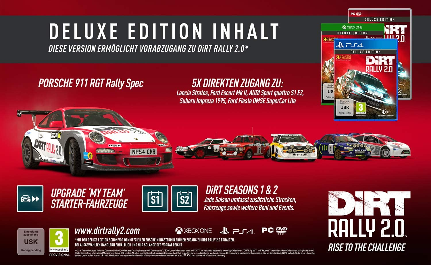 DiRT Rally 2.0 Deluxe Edition (XONE): Amazon.es: Videojuegos