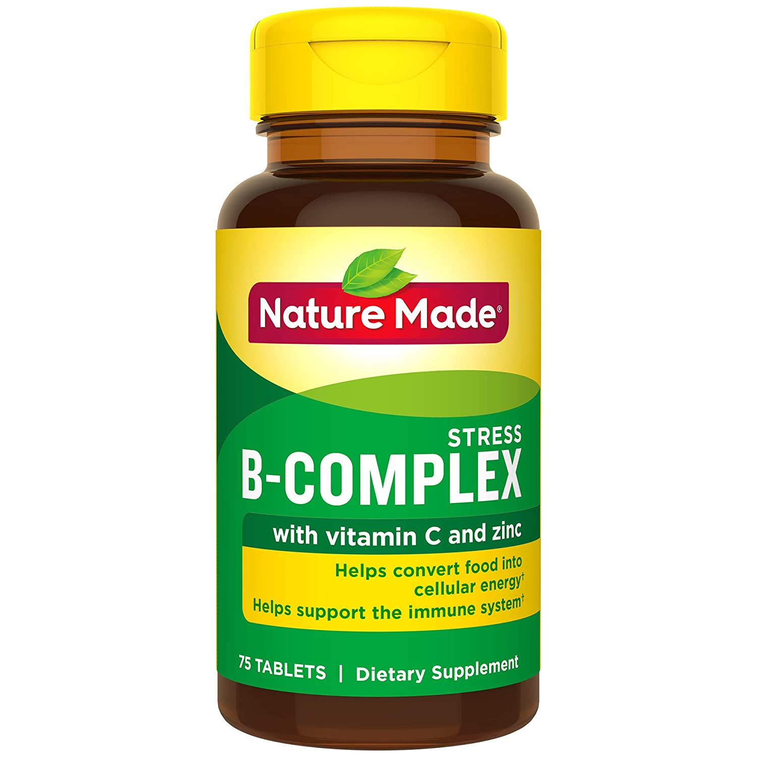 Nature Made Stress B Complex with Zinc Tablets, 75 Count