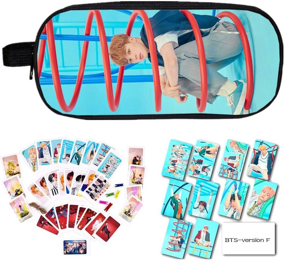 YEeyuTrwd BTS Merch Kit BTS Bangtan Boys BTS Love Yourself Answer BTS-Kartenaufkleber Bleistiftetui//Kosmetiktasche BTS-Fotokarte mit Clip und Hanfseil