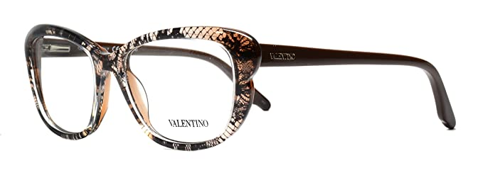 Valentino V 2655 Eyeglasses 208 Brown Lace at Amazon Women\'s ...