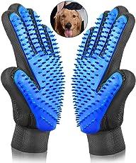 Sonolife - Par de Guantes Masaje Cepillado de Mascota de Fácil Limpieza Textura en Color