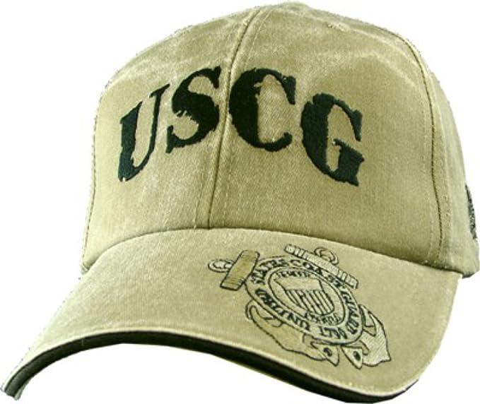 9531b993227f9 Amazon.com  USCG Coast Guard Khaki Ball Cap  Clothing