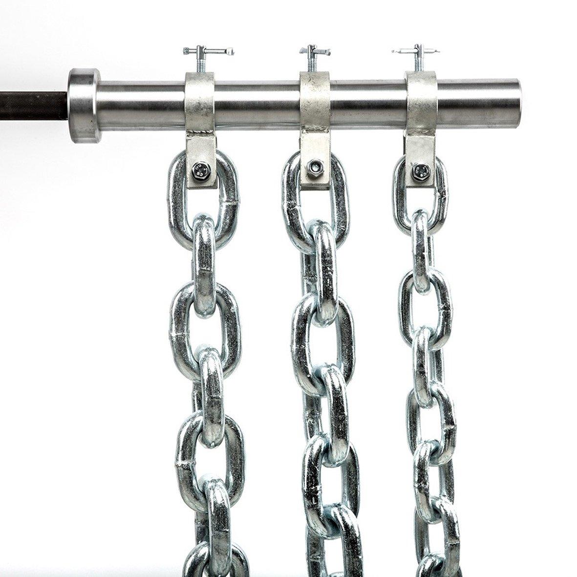 Powerketten 24 kg - Paar - Stahl, verzinkt zur Befestigung an der 50 mm Hantelstange