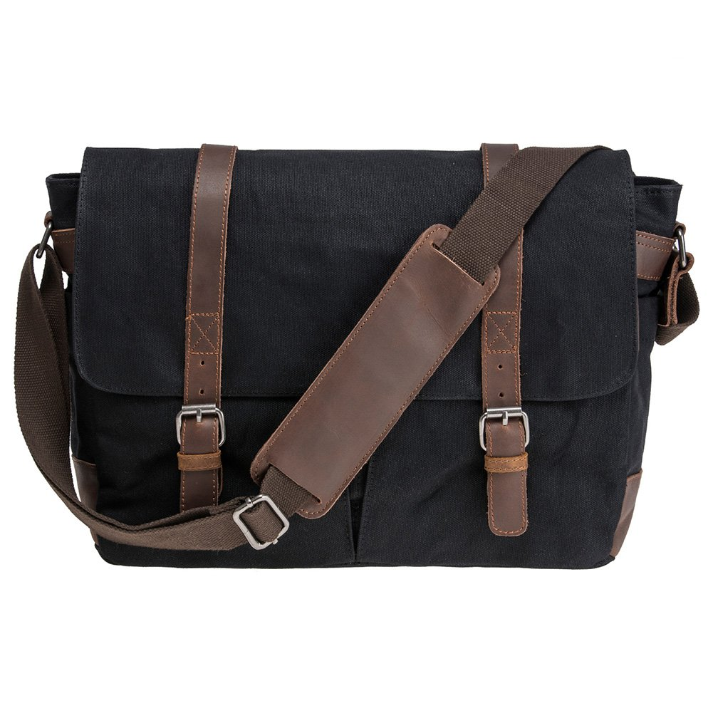 Waterproof Waxed Canvas 15'' Macbook pro/ 14'' Laptop Messenger Bag Men Business Vintage shoulder bag/Briefcase