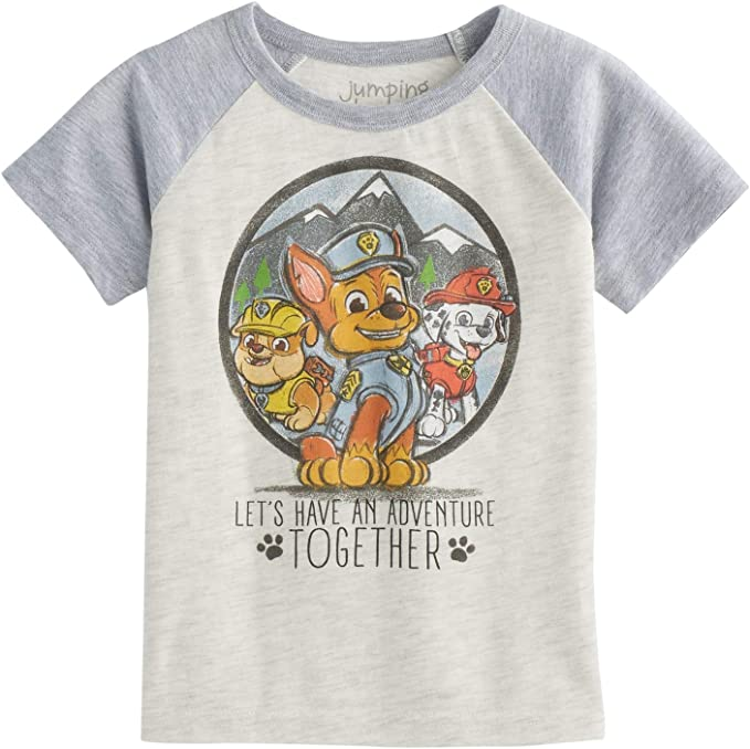 Jumping Beans Toddler Girls 2T-5T Paw Patrol Skye /& Everest We Can Do Anything Glittery Graphic Tee
