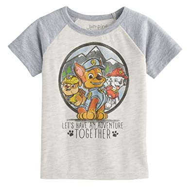ef6c977cfaf Amazon.com  Jumping Beans Toddler Boys 2T-5T Paw Patrol Chase Rubble    Marshall Short-Sleeve Tee 5T Oatmeal Heather  Clothing