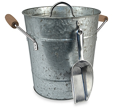 Artland® Oasis Galvanized Steel Ice Bucket with Scoop - BedBathandBeyon​d.com