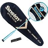 Senston Performance Raquette de Badminton Haute qualité Tout Graphite Unique avec Raquette Couverture