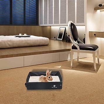 Caja de arena de cama plegable con gato caja arena de gato baño impermeable fácil de