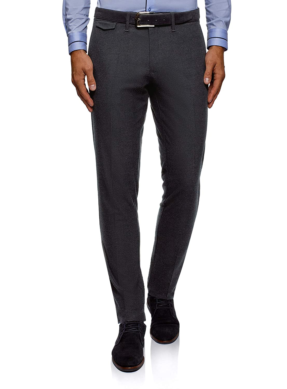 oodji Ultra Uomo Pantaloni Slim in Tessuto Strutturato RIFICZECH s.r.o. 2L210246M