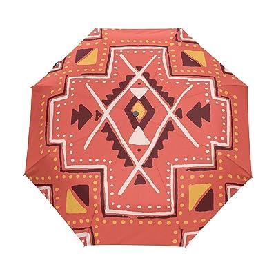 WIHVE Mexican Print Vintage Umbrella Auto Open Close Windproof Compact