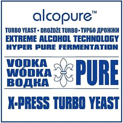 Turbo de levadura - VODKA puro ALCO-PURE de espíritu de Alcohol VODKA Alcohol Home Brew: Amazon.es: Hogar