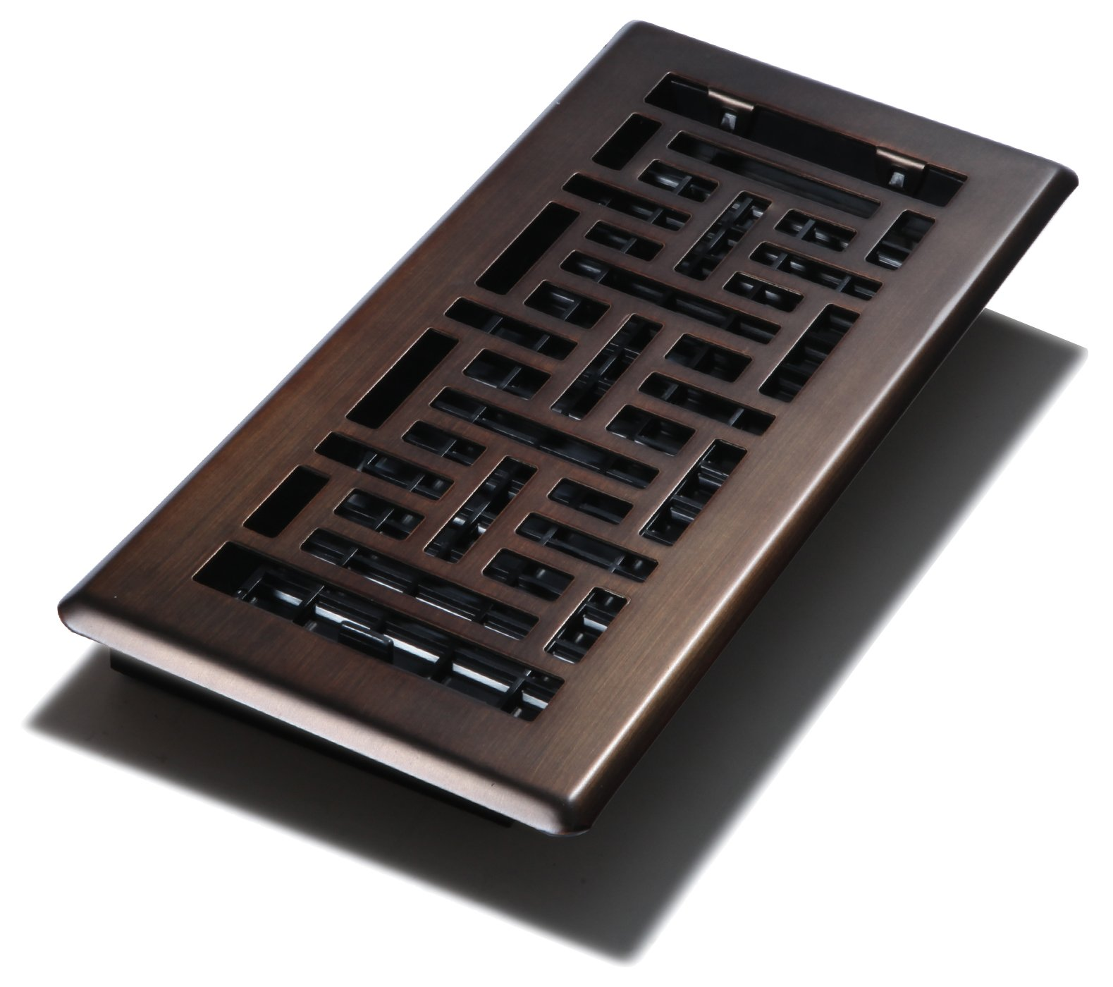 Decor Grates AJH410-RB-8 AJH410-RB-8 Oriental Floor Register, Rubbed Bronze, 4-Inch by 10-Inch, 8-Pack by Decor Grates