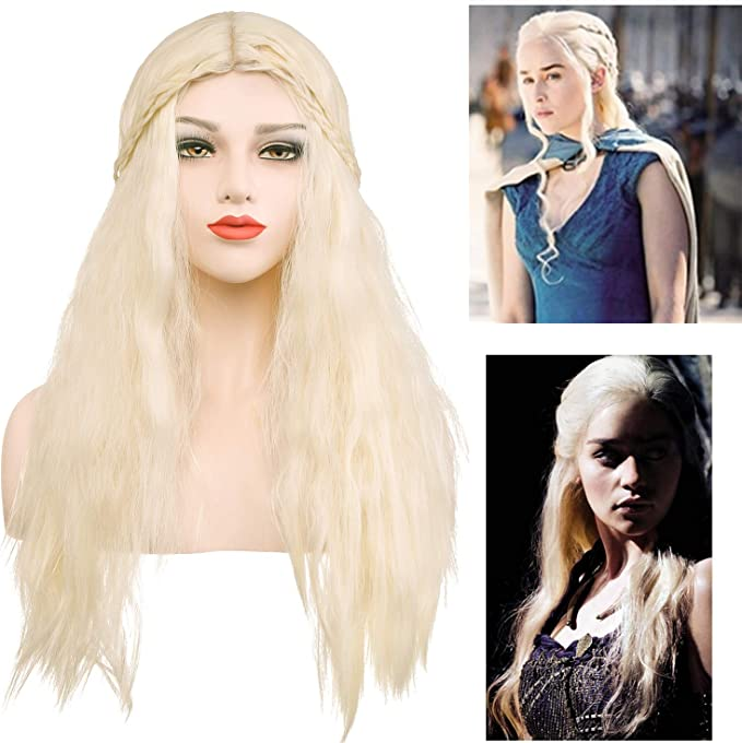 Daenerys Targaryen Peluca de cosplay para disfraz de Juego de ...