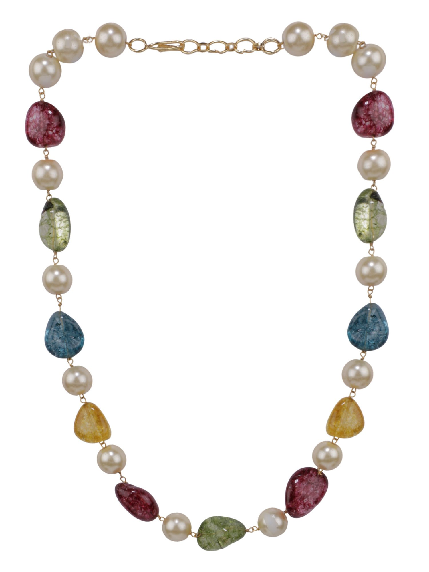Efulgenz Indian Bollywood Tourmaline Pearl Beaded Strand Bridal Necklace Wedding Jewelry Women