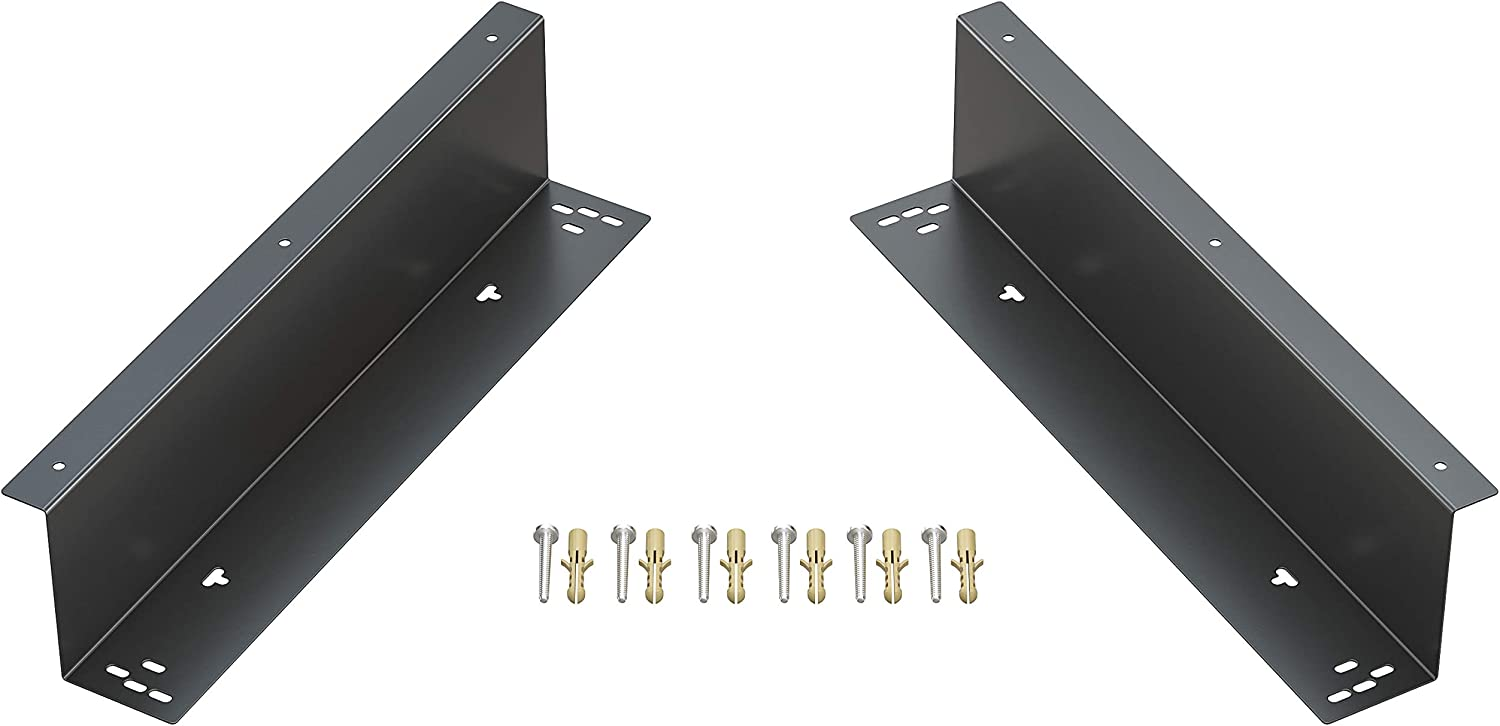 "Skywin Under Counter Mounting Brackets for Cash Drawer - Heavy Duty Steel Mounting Brackets for Installation of 16"" Cash Drawer Under The Counter"