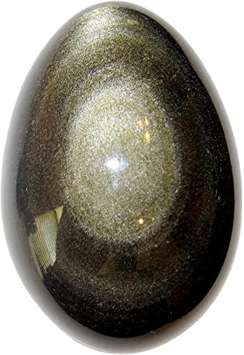 Satin Crystals Obsidian Egg Silver Gold Sheen Protection Stone Crystal Healing Premium P01 2.8