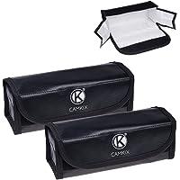 CamKix® grote brandvaste LiPo-accu-tassen - verpakking van 2 - veiligheids- en opbergtas - voor veilig laden en…