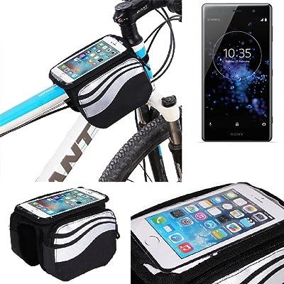 Pour Sony Xperia XZ2 Premium Sac cadre Sacoche de vélo Sac de Guidon Pochette Housse Top Tube Etui Support Cycle Vélo bagagerie Cyclisme étanche Avant Téléphone Bicyclette pour Sony Xperia X