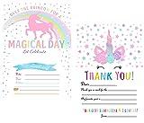 Unicorn Birthday Party Invitations For Girls