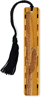 product image for Cactus with Bird Original Design Engraved Wooden Bookmark with Tassel