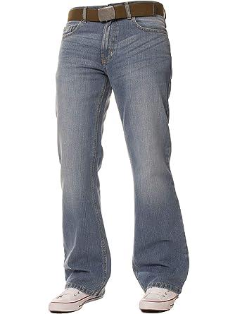 FBM Jeans Pantalon Jean de Travail Bootcut Denim Bleu délavé pour Homme,  Coupe Ample, Grandes Tailles  Amazon.fr  Vêtements et accessoires 89d5355491e9
