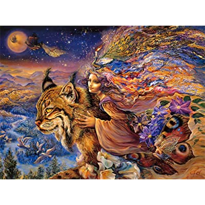 YUHENG Puzzles for Adults Kids 1000 Piece Large Puzzle Game Toys Gift, Vintage Paintings Landscape Jigsaw Puzzle 27.16x20.08 inch -Magic Tiger (812): Toys & Games