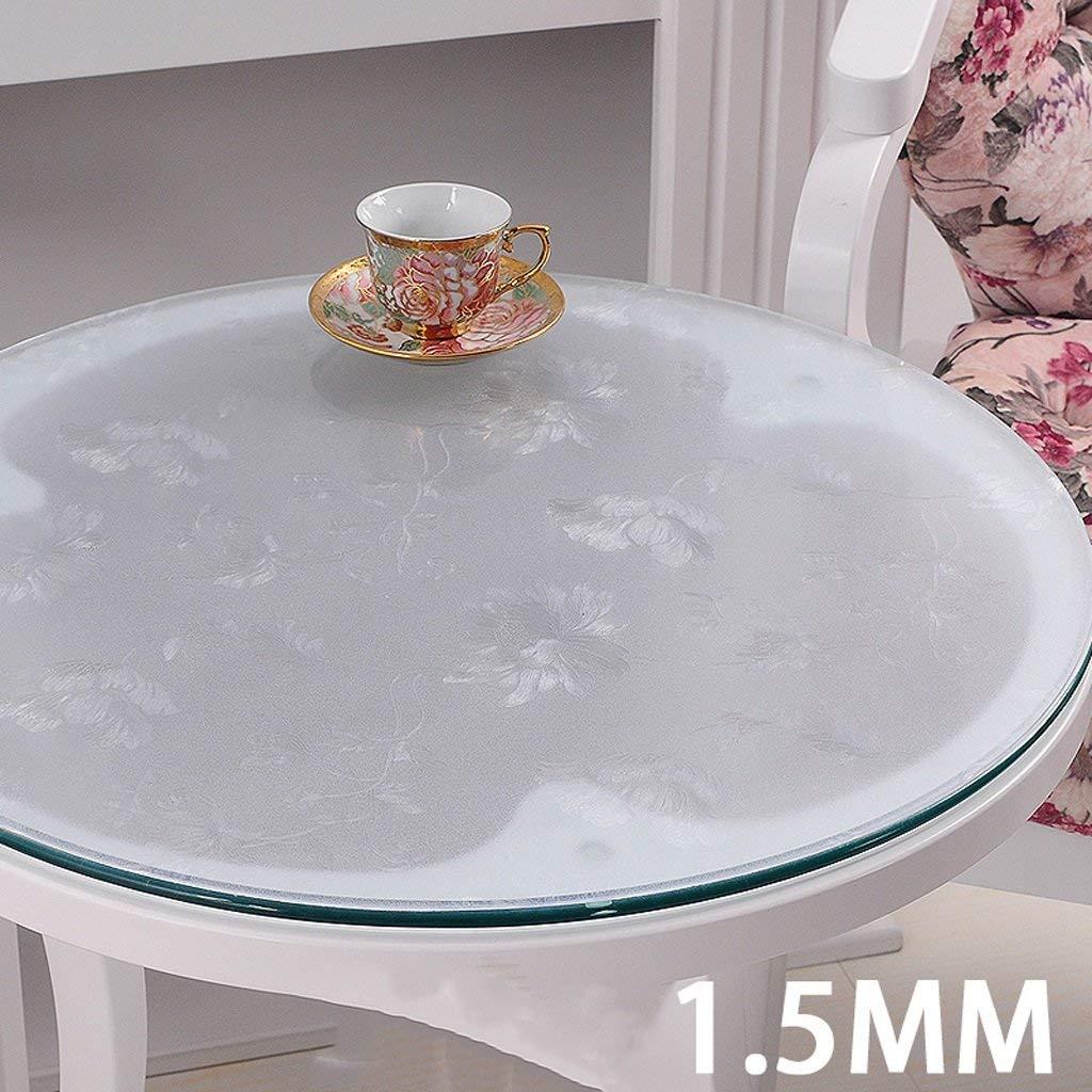 JJD テーブルクロスクリスタルプレートでPVCテーブルクロス防水柔らかいガラステーブル( (サイズ : 150*150cm) 150*150cm  B07SND9SR5