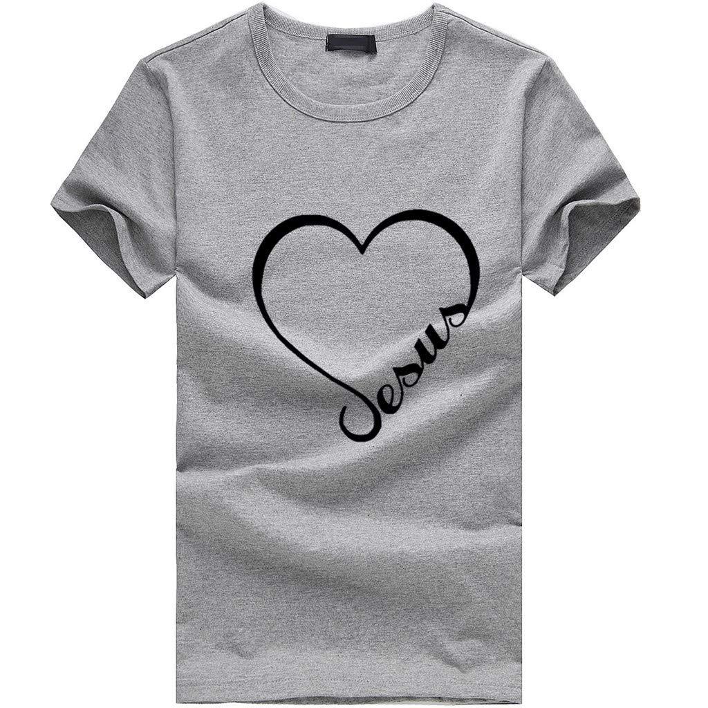 OOEOO Women Short Sleeve T-Shirt Plus Size 2019 Summer Fashion EAUA Love Print Tees Shirt Blouse Tops