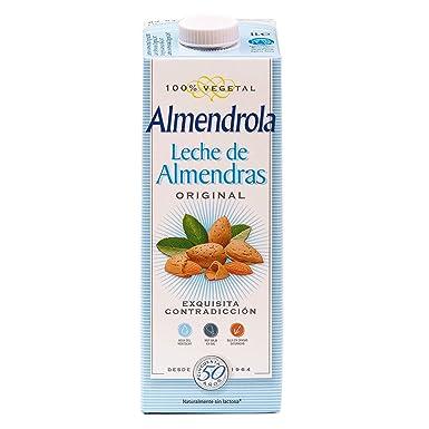 Almendrola Bebida Vegetal de Almendras con Azúcar - Paquete de 6 x 1000 ml - Total
