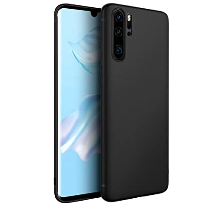 EasyAcc Case for Huawei P30 Pro, Black TPU Phone Case Matte Finish Slim Profile Soft Thin Back Cover Support Wireless Charging Compatible with Huawei ...