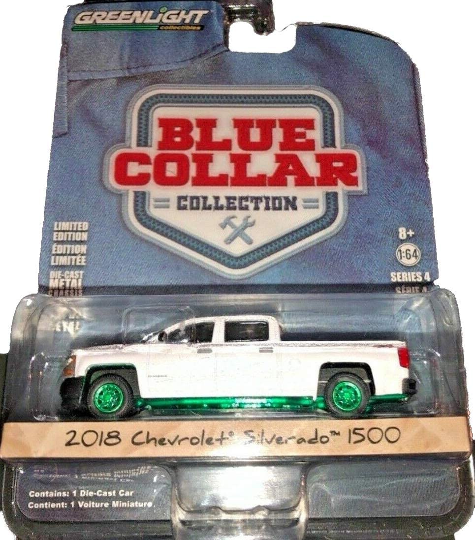 Greenlight 35100-F Blue Collar Series 4 2018 Chevrolet Silverado W//T 1:64 Scale