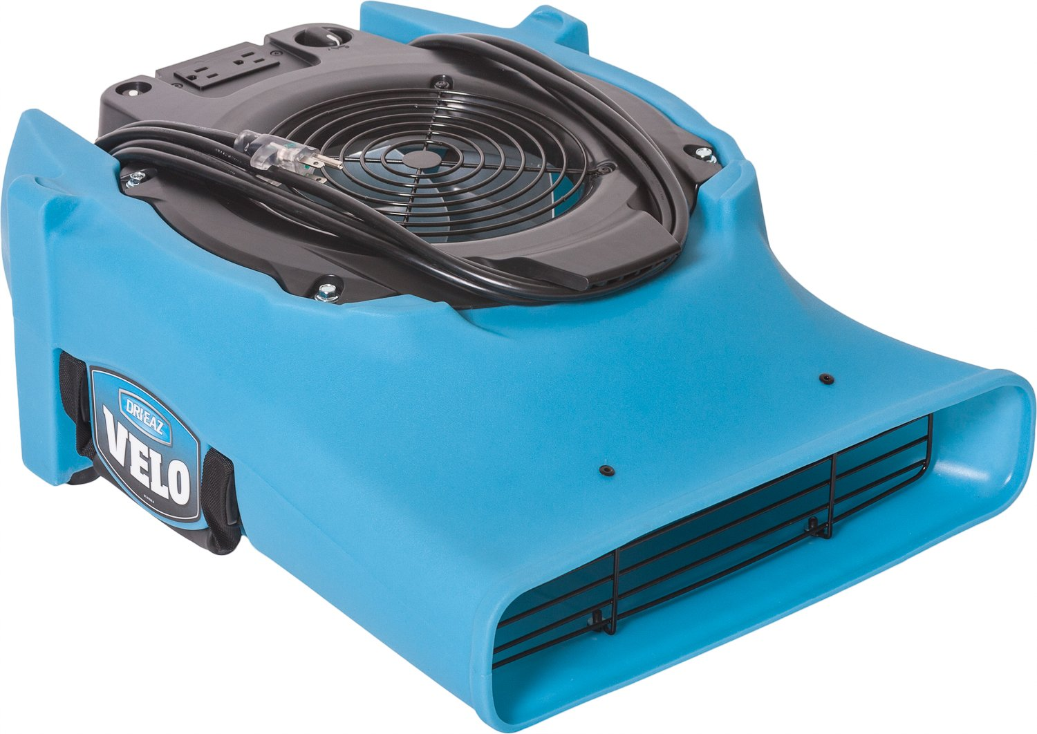 Dri Eaz Velo Air Mover F504 Professional Water Damage Dryer for Carpets, Walls, Floors, 1.9 Amp Saves Power, 1-Speed, High Velocity, Quiet, Well Built, Daisy Chains, Blue by Dri-Eaz