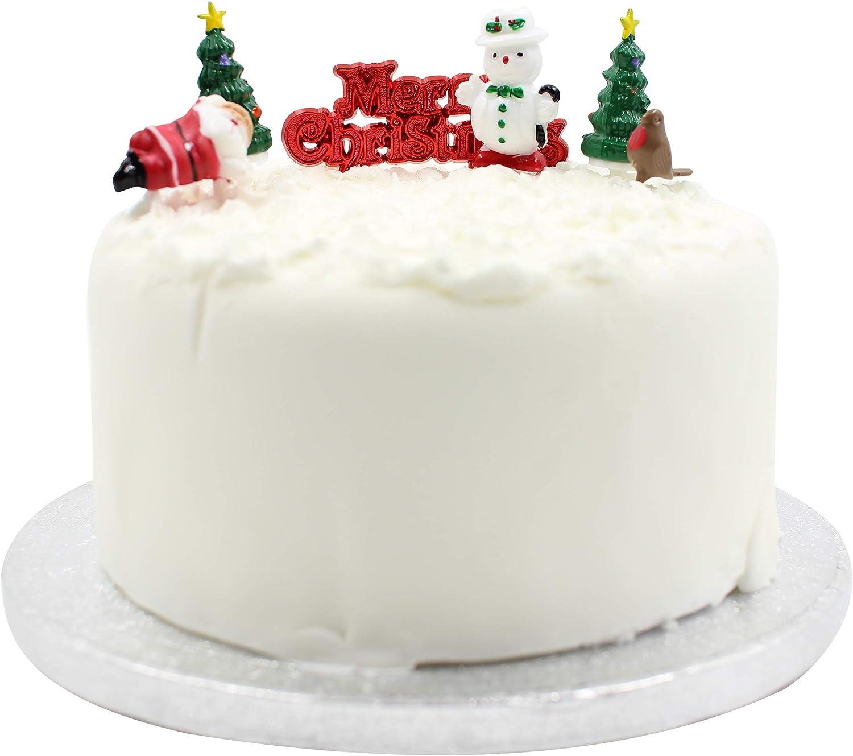 Christmas Cupcake or Mince Pie CakeToppers 6 x Snowman 6 x Santa