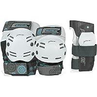 Powerslide - Kit de Seguridad para Adultos, 6 Piezas, Color Blanco y Negro