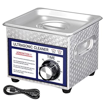 AW 1 3L(1/3 Gallon) Ultrasonic Cleaner 60W w/Timer Jewelry Eyeglass Tattoo  Dental Home Health Care Stainless Steel