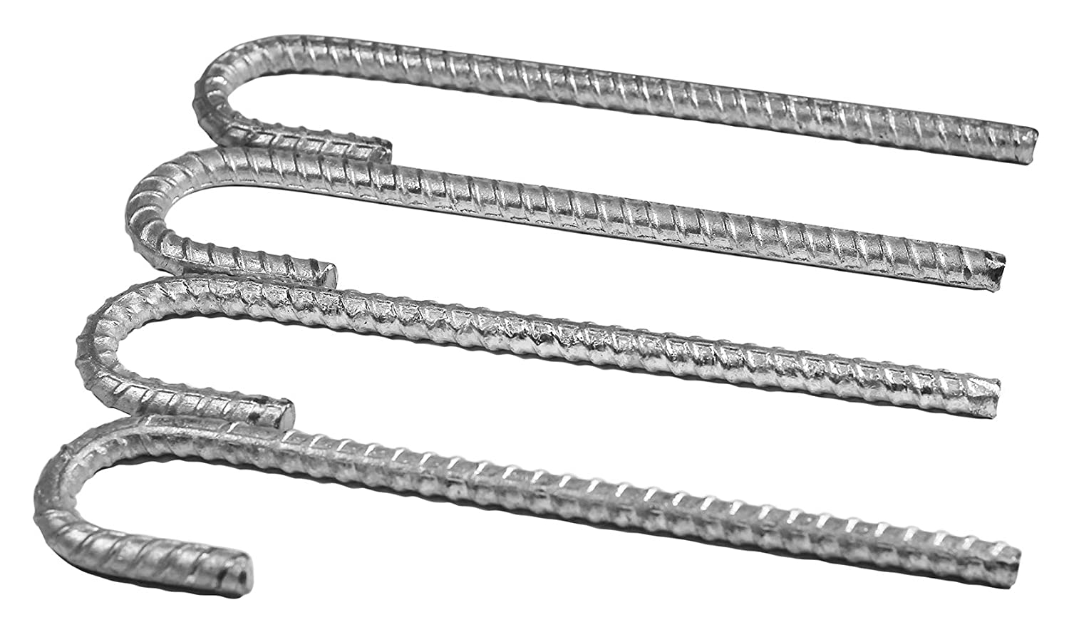 Pinnacle Mercantile Extra Heavy Duty Galvanized 1//2 inch Rebar J Hooks Stakes Anchors11 inches 4-Pack