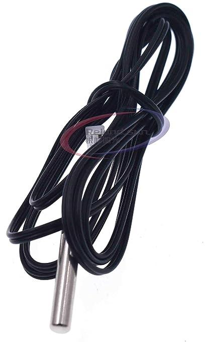 5pcs NTC 10K Ohm 1/% 3435 Thermistor-Temperatursensor Zylinder-Sonde 0,5m Draht
